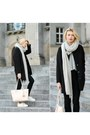 Black-taly-weijl-coat-black-h-m-jeans-heather-gray-bik-bok-sweater