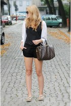 black Terranova shorts - camel Tommy Hilfiger shoes - brown Louis Vuitton bag