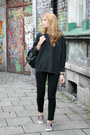 Charcoal-gray-second-hand-sweater-black-primark-bag-black-h-m-pants