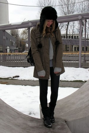 Tally Weijl hat - Vila jacket - GINA TRICOT sweater - Zara pants