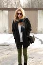 Black-tally-weijl-coat-white-second-hand-sweater-black-zara-bag