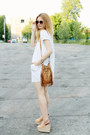 White-bon-prix-dress-camel-primark-bag-beige-h-m-wedges