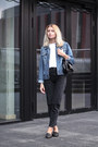 Black-pull-bear-jeans-navy-john-baner-jacket-black-zara-bag