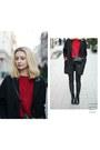 Black-labotti-shoes-black-tally-weijl-coat-red-bershka-sweater