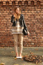 second hand sweater - H&M jacket - Zara bag - H&M pants