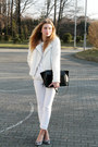White-c-a-jacket-white-h-m-sweater-black-zara-bag-white-mango-pants