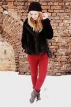 H&M jacket - my dads hat - Tally Weijl bag - Zara pants