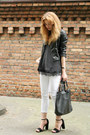 Black-h-m-jacket-white-mango-pants-black-new-yorker-top