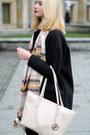 Black-tally-weijl-coat-light-pink-h-m-scarf-light-pink-michael-kors-bag