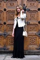 second hand dress - Vero Moda jacket - Glitter bag