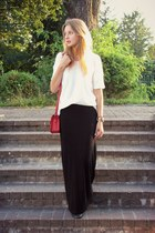 Glitter bag - Terranova skirt - Mango blouse - Perfois watch - Apart bracelet