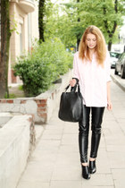 black Manzanna bag - black Zara panties - black Parfois heels