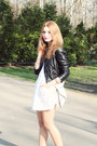 White-bonprix-dress-black-h-m-jacket-white-allegro-bag