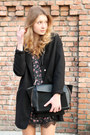 Black-stradivarius-dress-black-tally-weijl-coat-black-zara-bag