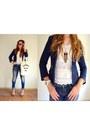 Zara-jeans-zara-blazer-abercrombie-fitch-bag-zara-top-ebay-sandals