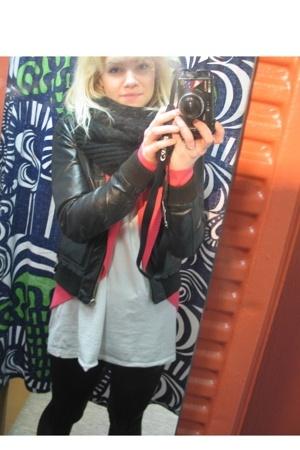 GinaTricot shirt - GinaTricot blazer - H&M jacket - leggings shoes