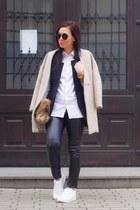 Sheinside coat - Sheinside shirt - Sheinside vest