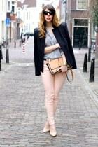 new look pants - Chloe bag - Zara blouse