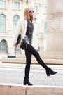 Dark-gray-h-m-shirt-black-calvin-klein-boots-off-white-zara-coat
