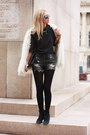 Black-calvin-klein-boots-off-white-zara-coat-dark-gray-h-m-shirt