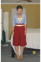 thrift shirt - thrift skirt - thrift belt - shoes