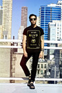 Black-blvd-supply-t-shirt-black-dr-martens-sandals