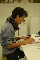 Zara shirt - Urban Outfitters scarf - Zara belt - Levis jeans