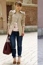 vintage jeans - H&M blouse