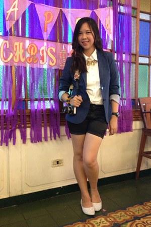 blue blue blazer classic blazer - black Forever 21 shorts