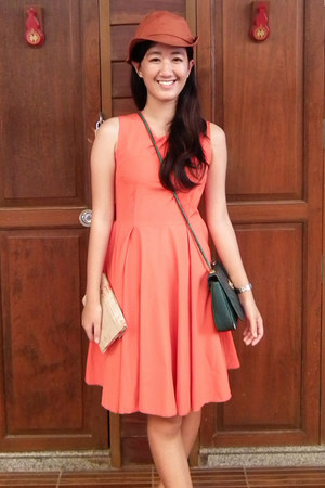carrot orange dress