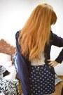 Dark-blue-julita-maria-blazer-income-shirt-white-tights