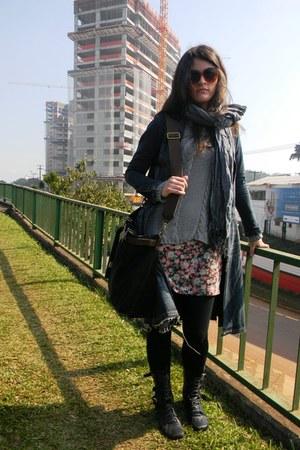 Ellus Deluxe boots - Ellus Deluxe jacket - Arezzo bag - Cori blouse - asos glass