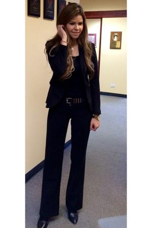 black H&M blazer - black pants