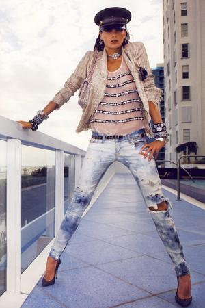 Chanel blazer - Chanel top - Chanel jeans