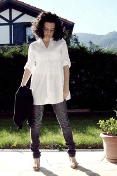 BLANCO shirt - Bershka jeans - Fosco shoes - Zara jacket