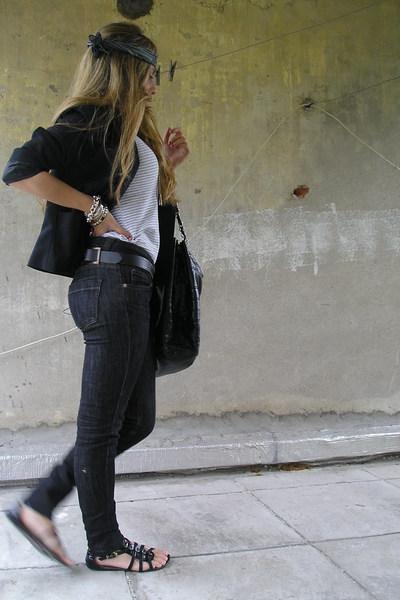 Zara blazer - Zara top - Zara jeans - Zara purse