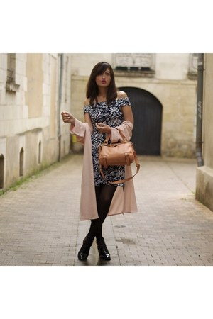 dusty pink new look jacket - blue and white Vesper Dresses dress