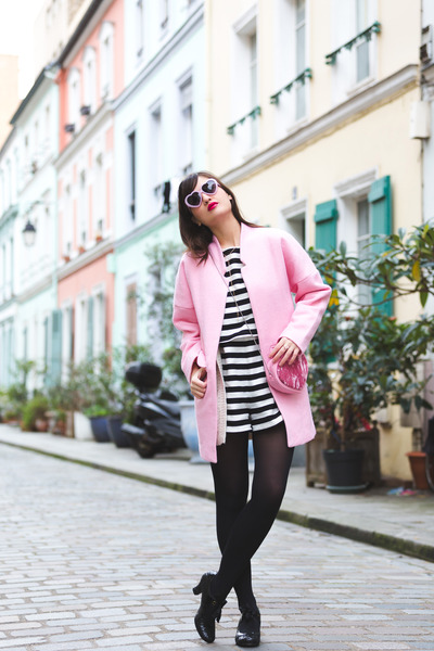 bubble gum pink ASAP Paris coat