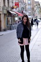 wool Dress Gallery Paris coat - Pimkie boots - Pimkie skirt