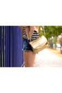 Pink-color-block-jacket-blue-denim-h-m-shorts-white-canvas-h-m-pumps