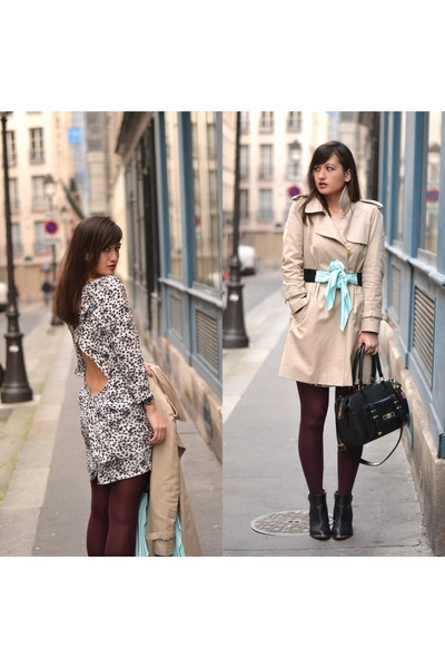 Manoush jacket - black and gold boots - Pimkie boots - Dress Gallery dress