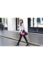 red leather Kate Lee bag - black leather Minelli boots