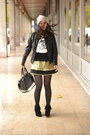 André-boots-black-pleather-asos-bag-zara-jumper-manoush-skirt