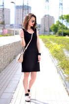 black jersey Buckley K dress - beige Kate Lee bag