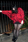 Trashy-diva-tights-hi-low-batwing-mink-pink-top-american-apparel-skirt