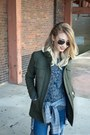Army-green-wool-structured-loft-jacket-navy-skinny-jeans-loft-jeans