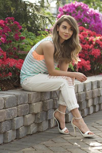aquamarine Victorias Secret shirt - orange Victorias Secret intimate