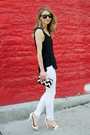 white skinny jeans Cult of Individuality jeans