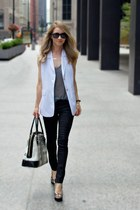 white white vest TheySkens Theory vest - black rag & bone jeans