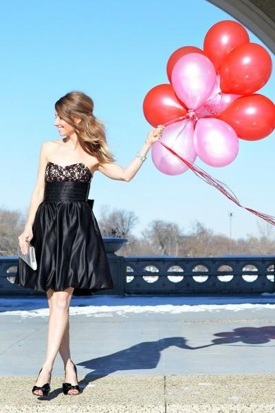 black Betsey Johnson dress - black Bebe heels
